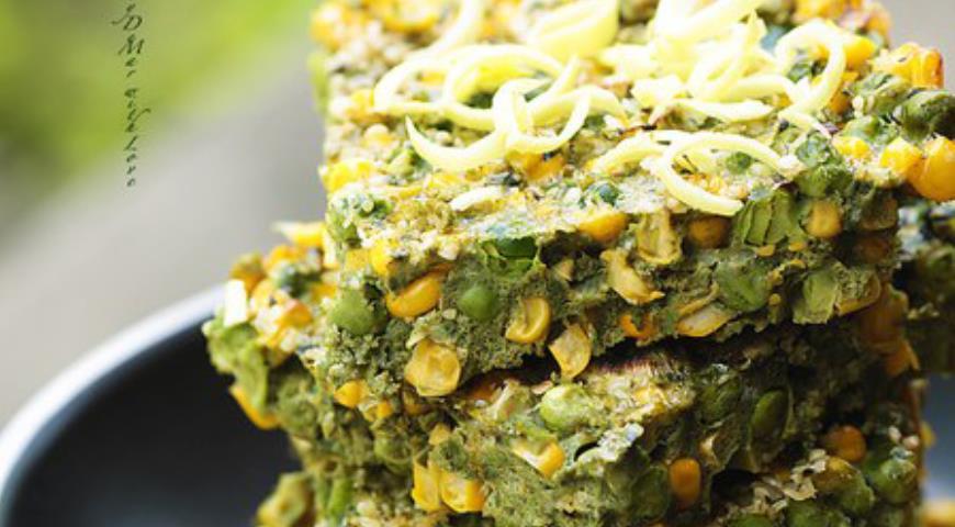 Рецепт Green Тортилья или еще больше витаминок и протеина в одном кусочке