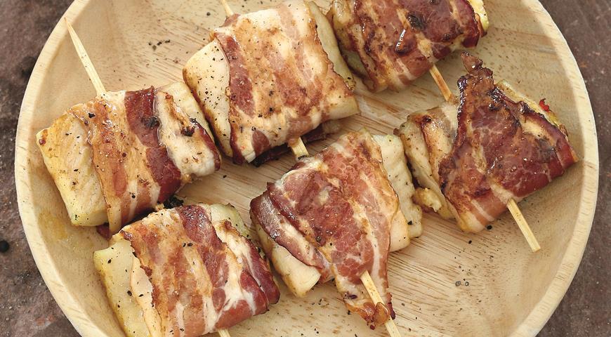 Рецепт Тилапия в беконе с розмарином на гриле