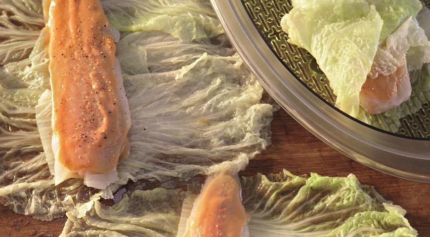 Рецепт Рыба в листьях пекинской капусты