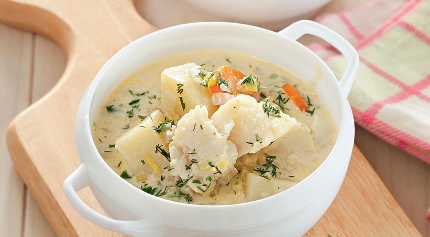 Рецепт Норвежский суп с треской