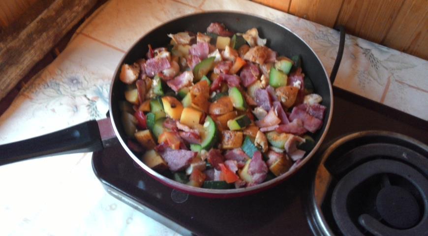 Рецепт Дачное рагу из молодых овощей
