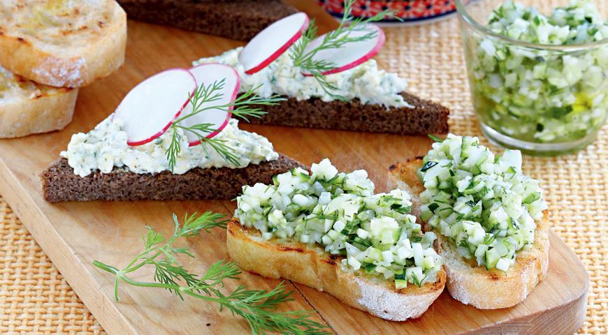 Рецепт Летние бутерброды