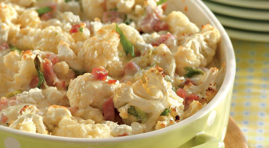 Рецепт Запеканка из цветной капусты и сыра