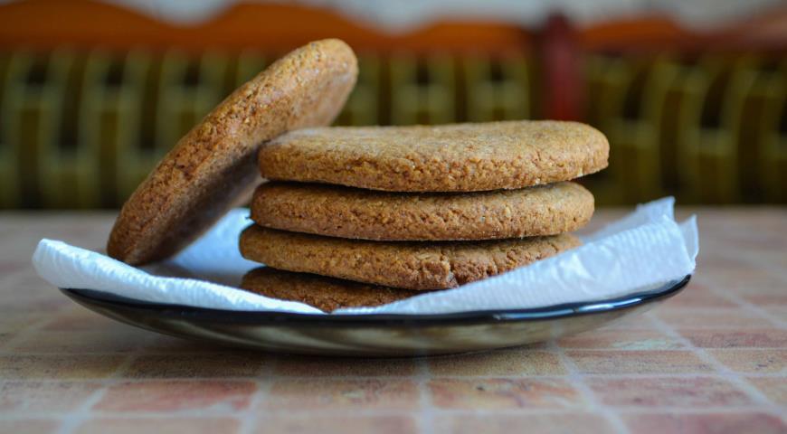 Рецепт Овсяное печенье из цельнозерновой муки