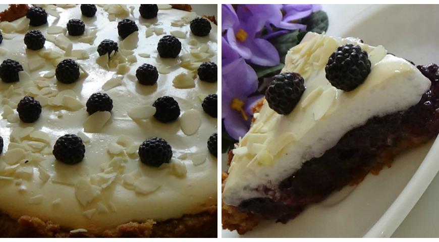 Рецепт Ежевичный пирог с меренгой