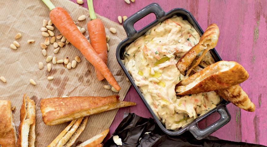Рецепт Морковный хумус с кедровыми орехами