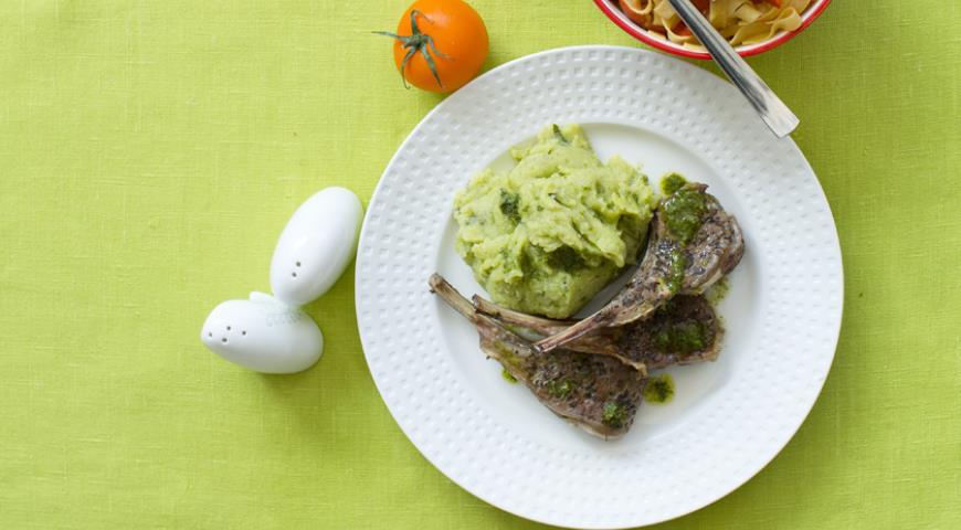 Рецепт Зеленое картофельное пюре