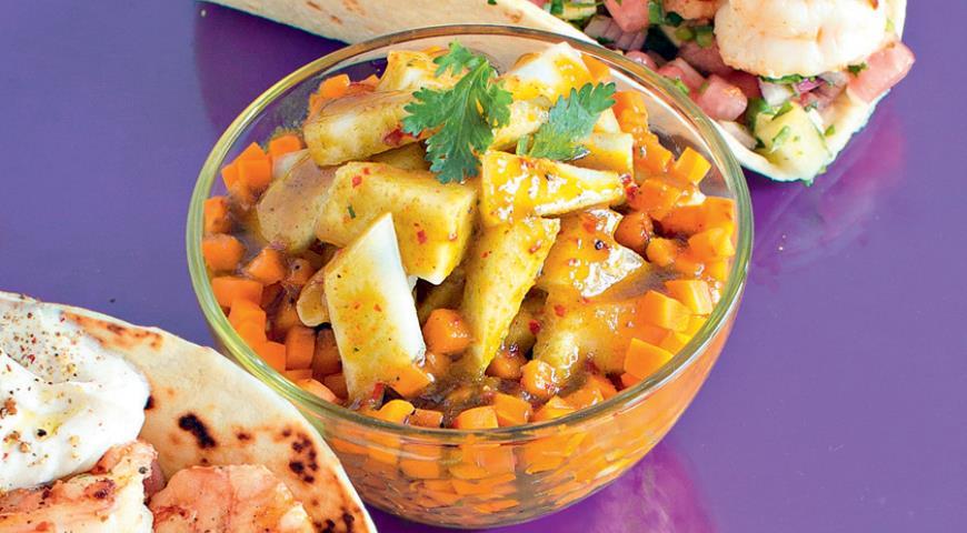 Рецепт Салат с дыней в азиатском стиле