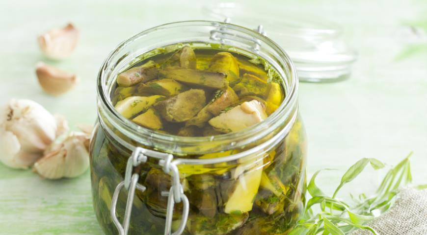 Рецепт Грибы в масляном маринаде