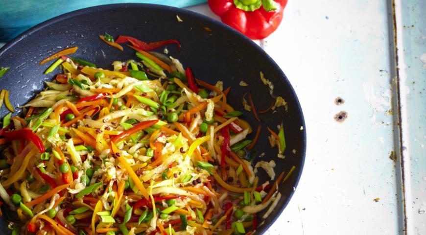 Рецепт Имбирный стир-фрай из овощей с сычуаньским перцем