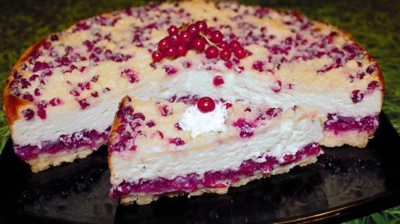 Рецепт пирога с красной смородиной
