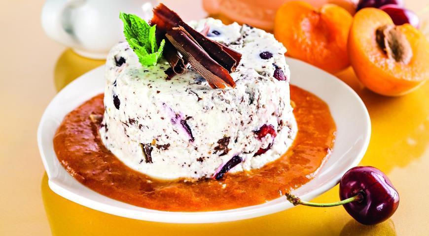 Рецепт Сицилийский творожный десерт с абрикосовым соусом