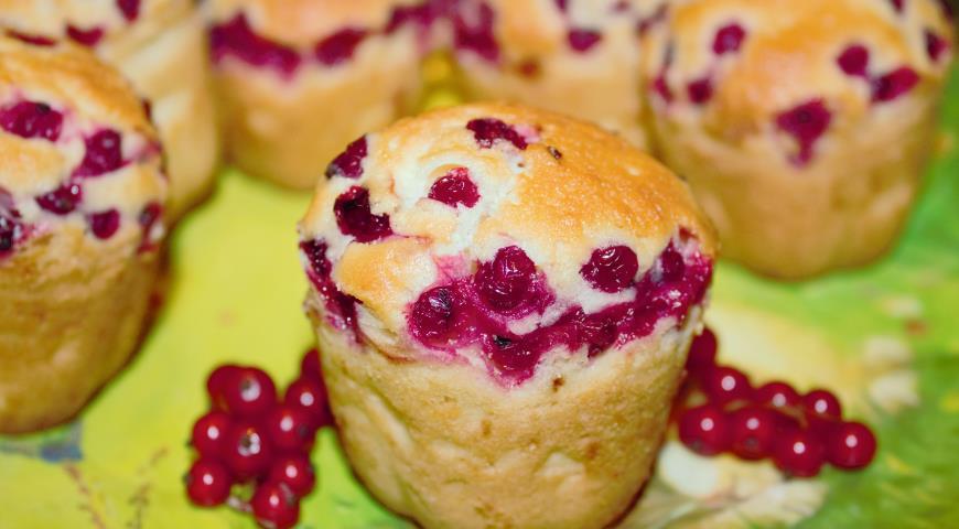 Рецепт Французские кексы с красной смородиной
