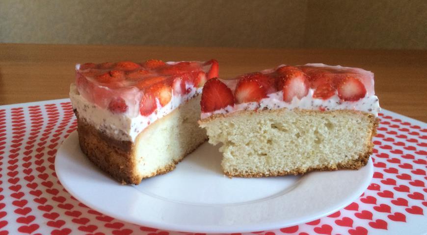 Клубничный торт рецепт пошагово в домашних условиях