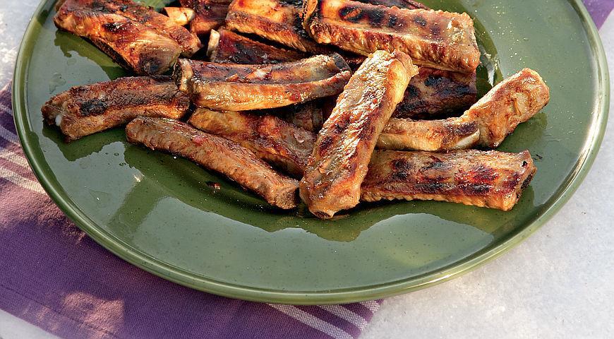 Рецепт Свиные ребрышки с медом и карри