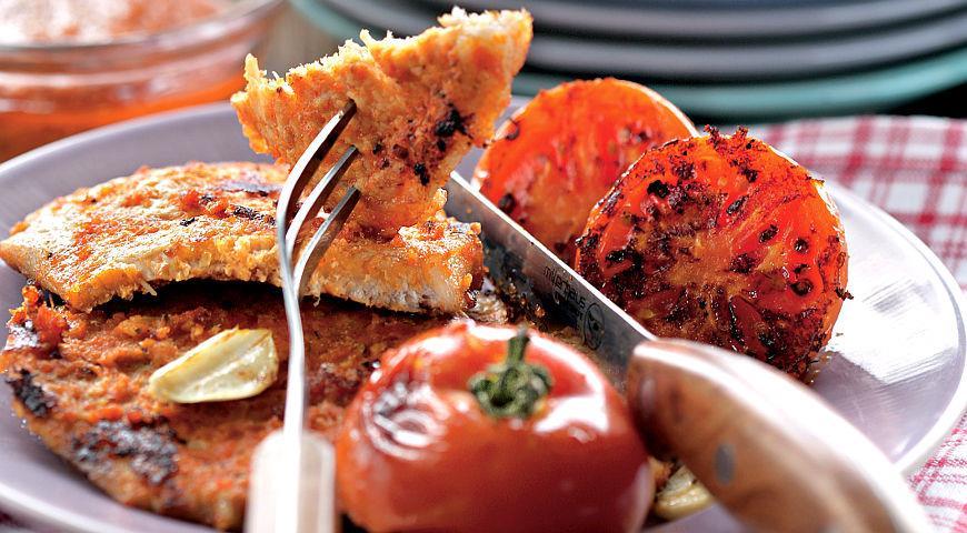 Рецепт Отбивные с помидорами на гриле