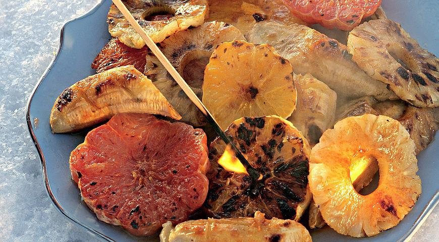 Рецепт Ассорти-фламбе на барбекю
