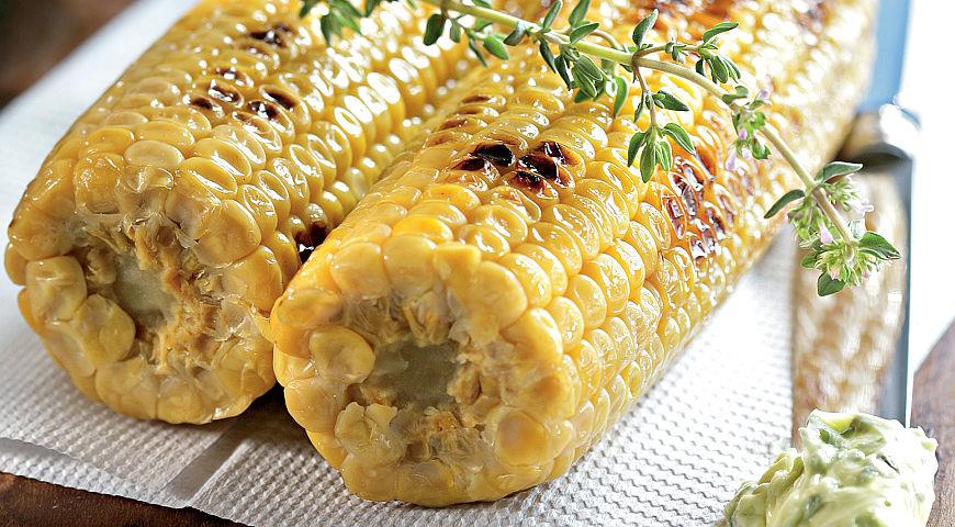 Рецепт Кукуруза, приправленная маслом с травами