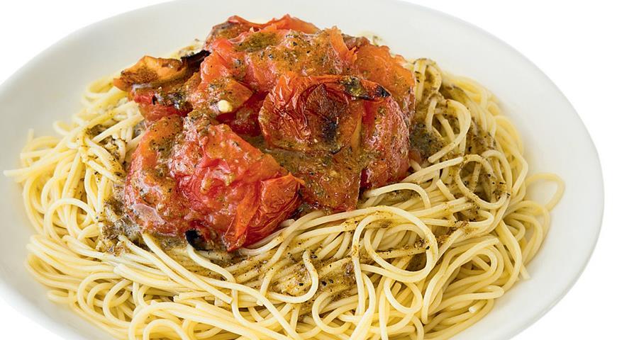 Рецепт Паста с помидорами-гриль