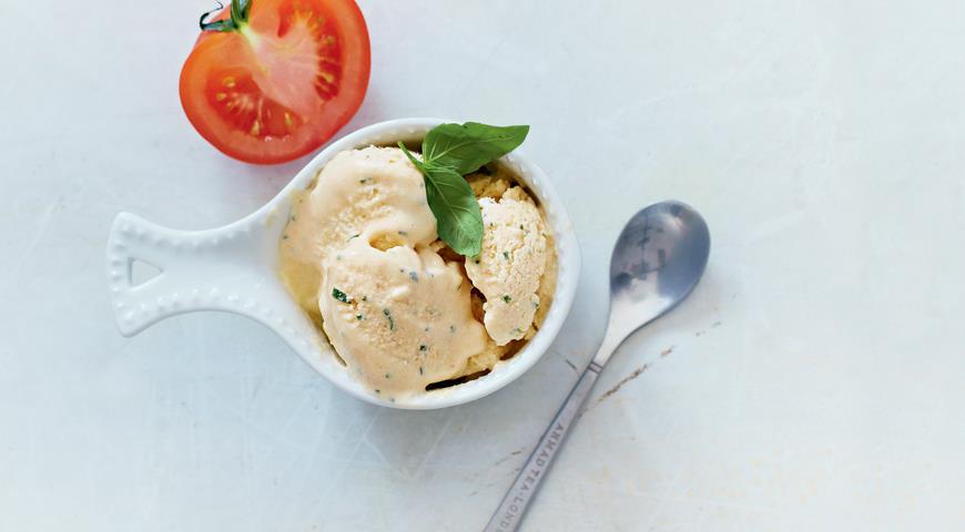 Рецепт Томатное мороженое с базиликом