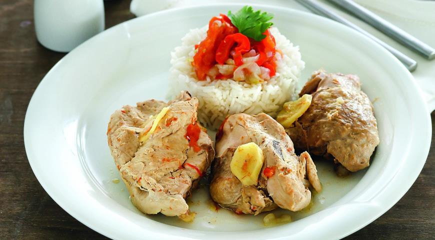 Рецепт Кеджену из цесарки с перцем и имбирем