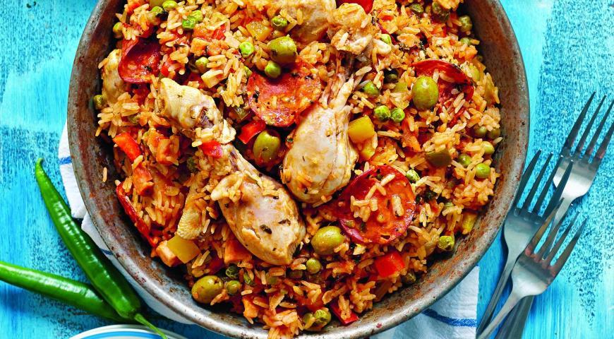 Рецепт Курица с рисом по-карибски