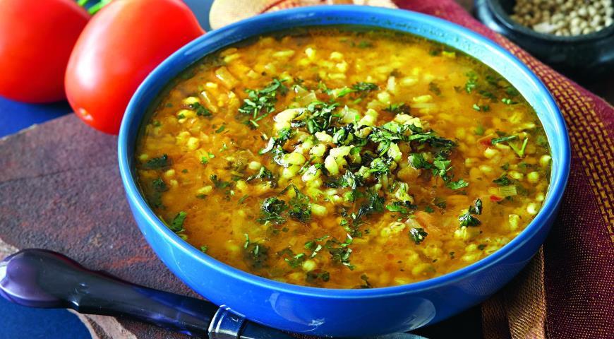Рецепт Марокканский суп из перловой крупы