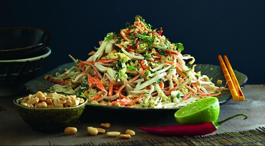 Рецепт Тайский салат с кальмарами