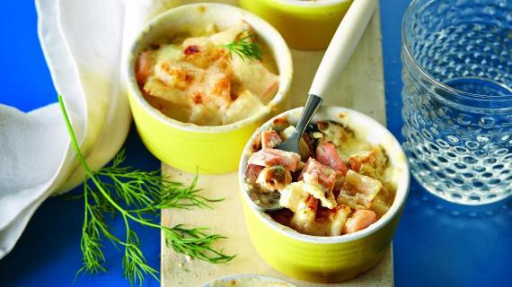 Кокиль из морепродуктов, пошаговый рецепт с фото