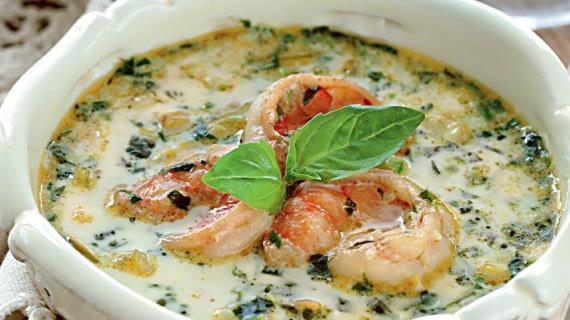 Сырный суп с ветчиной и шампиньонами – кулинарный рецепт