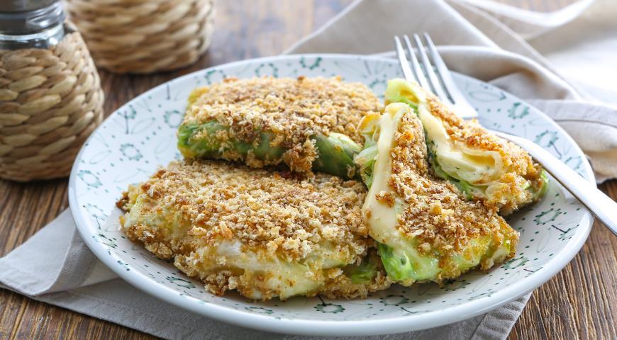 Рецепт Капустные шницели с сыром и зеленью