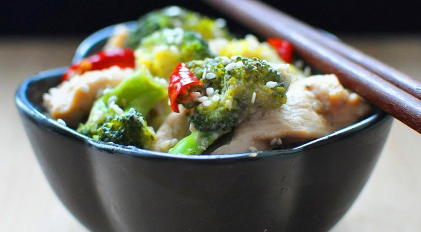 Рецепт Куриные грудки с брокколи