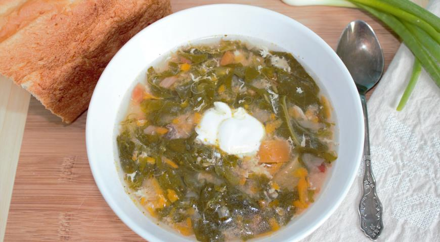 Рецепт Суп из щавеля с тушенкой