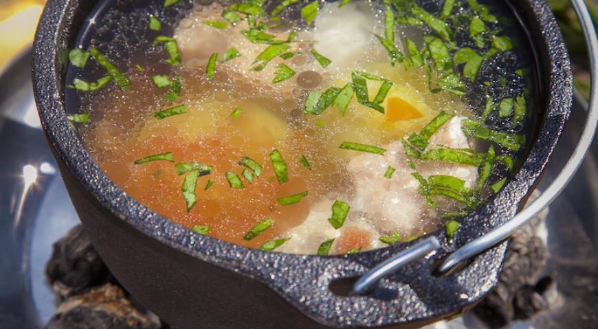 Рецепт Уха из лосося и трески