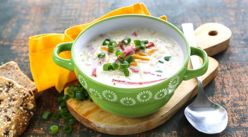 Рецепт Суп с копченой колбасой