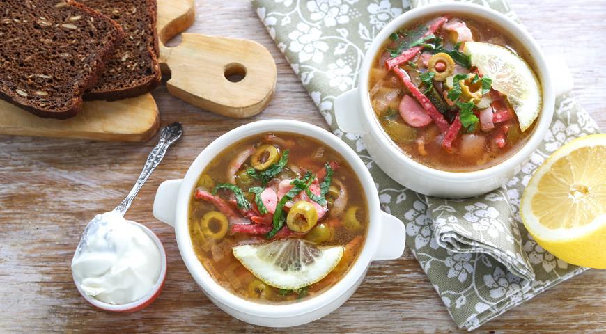 Мясная суп солянка рецепт с фото
