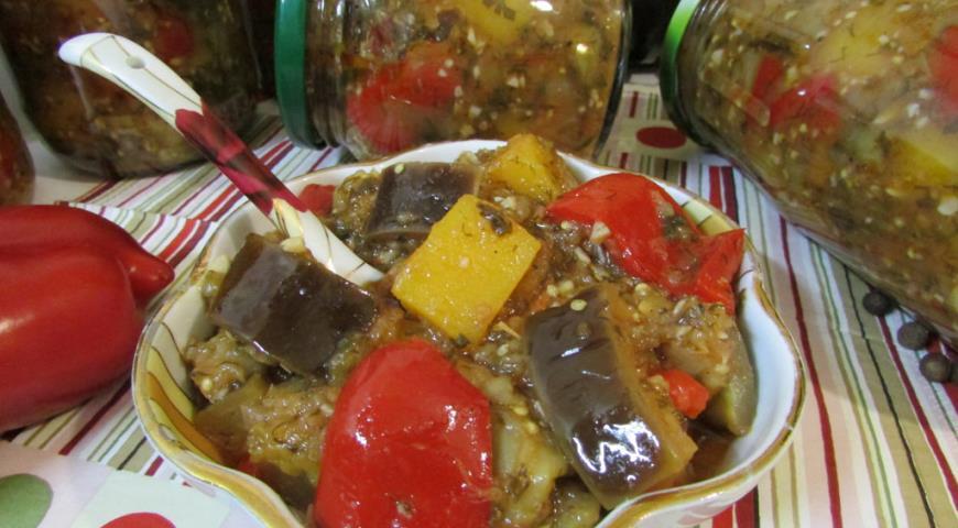 Рецепт Закуска с баклажанами и тыквой