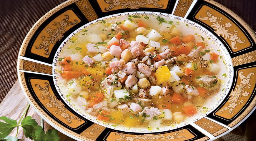 Рецепт Зимний суп со свининой