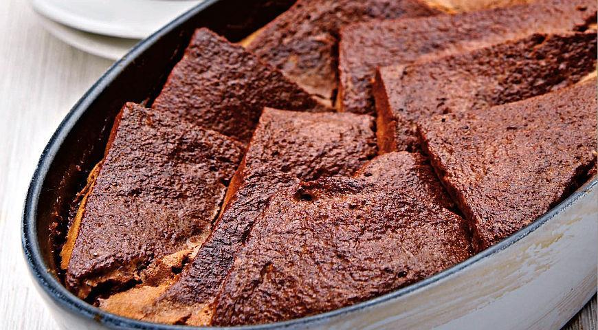 Рецепт Шоколадный хлебный пудинг