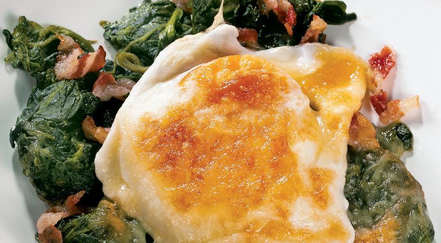 Рецепт Яйца, запеченные в гриле, по-флорентийски