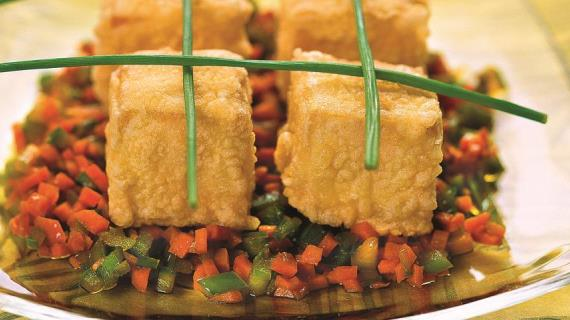 Жареные овощи с тофу, пошаговый рецепт с фото