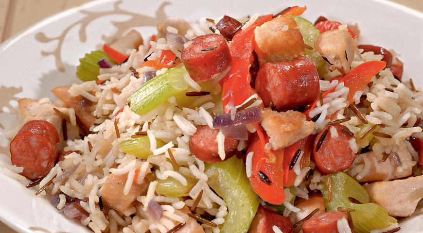 Рецепт Джамбалайя с диким рисом