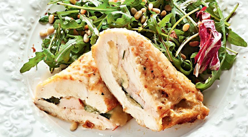 Рецепт Куриные грудки с сыром и ветчиной