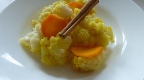 Цветная капуста в апельсиновом соке