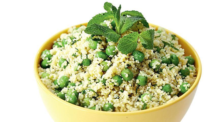 Рецепт Салат из зеленого горошка с мятой и кускусом