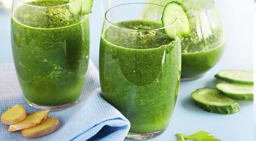 Рецепт Зеленый смузи с огурцами