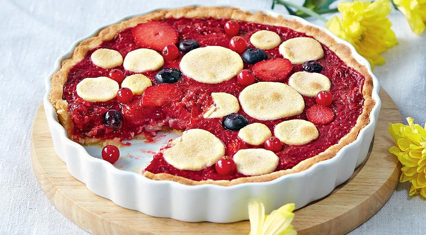 Рецепт Ягодный песочный пирог без глютена
