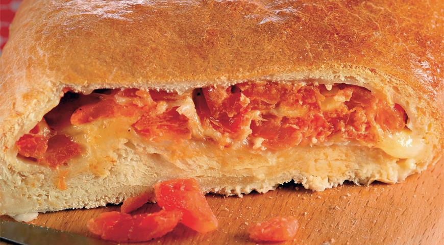 Рецепт Хрустящий томатный пирог с моццареллой