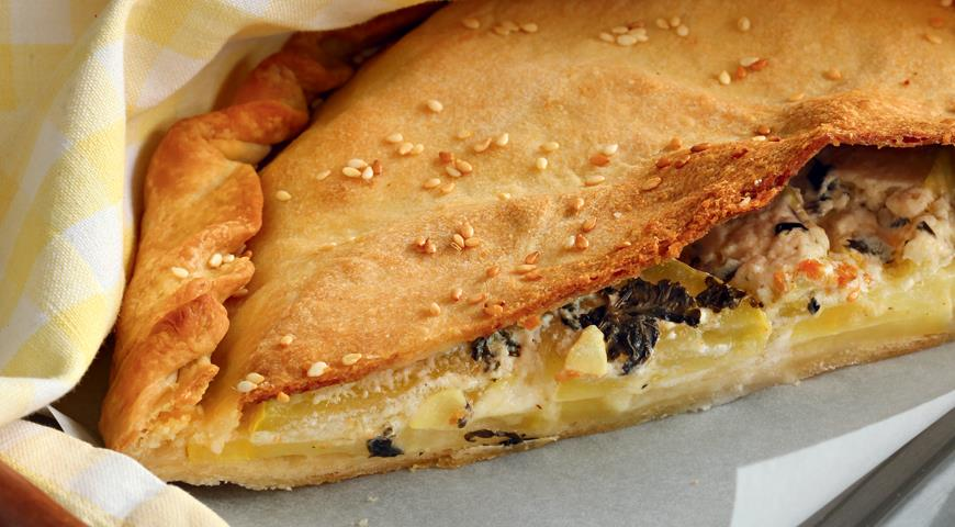 Рецепт Пирог с кабачками и картофелем