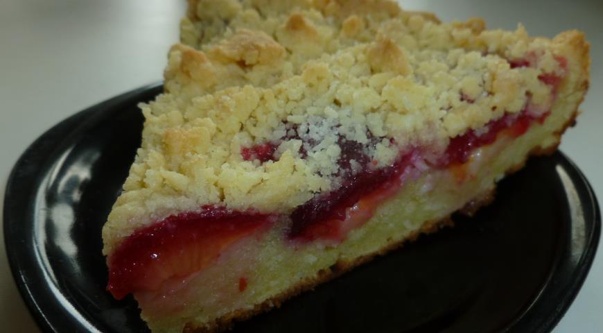 Рецепт Сливовый пирог со штрейзелем